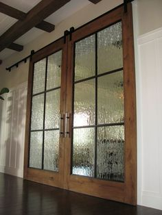 distorted glass - when you want a glass cabinet or closet door but don't want to see all the dirty details