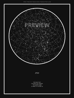 Custom Star Map - Black