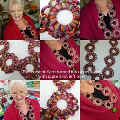The 8th Gem: The Yarn Present turned into a Necklace...