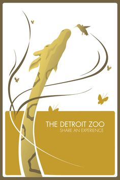 Detroit Zoo Poster by Keith Kochajda, Love the simplicity! (this isn't fair- it's of my two favorite animals)