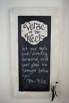 Verse of the week on chalkboard