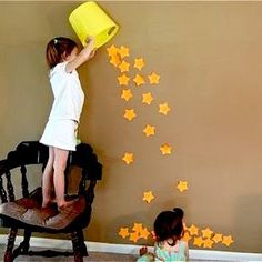 cute idea you could even do this with the parents and the child and i think it would be very cute