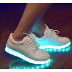 buy online 78e57 a4e0b Fashion Unisex LED Light Lace Up Luminous Shoes Sportswear Sneaker Casual  Shoes USB Charging. Zapatos Blancos MujerZapatos ...
