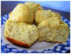 Lemon Poppy Seed Muffins made with Coconut Flour