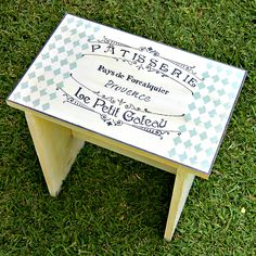 Create a French chic stepping stool for your kitchen with Mark Montano. #chalkyfinish
