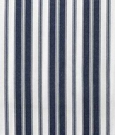 Ottoman fabric Suntex Sun Duck Navy / White Pin Stripe Fabric - $17.15 | onlinefabricstore.net