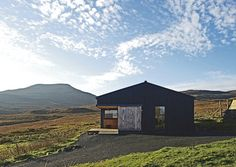 Skinidin - The Black Shed - Rural Design Architects - Isle of Skye and the Highlands and Islands of Scotland Black Shed, Black House, Building A Shed, Building Design, What Is Glamping, Sweet Home, Rural House, Shed Homes, Small House Design