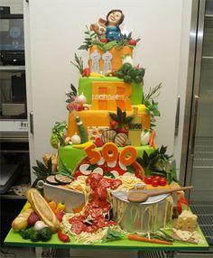 Rachel Ray cake by Cake Boss Crazy Cakes, Fancy Cakes, Unique Cakes, Creative Cakes, Cupcakes, Beautiful Cakes, Amazing Cakes, Cake Boss Wedding, Carlos Bakery Cakes
