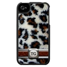 Wild Leopard Fur iPhone 4 Case