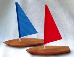 Down To Earth Toys :: Wooden Toy #Sailboat