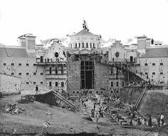 Construção da penitenciaria de Lisboa, na década de 1880
