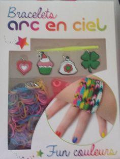 Kit pour bracelets loom band  3 modèles dispo (fun colors, girly, paillettes) en vente ici http://www.pyramideauxbijoux.com/kits-et-materiels-pour-bracelets/