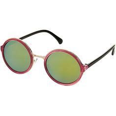 TOPSHOP 90's Round Sunglasses (2.005 RUB) ❤ liked on Polyvore