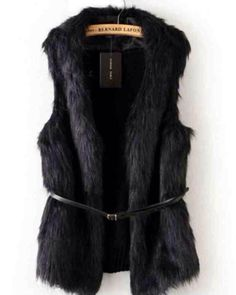 Black Gillet Fur Waistcoat Fashion Trend Style Outfit