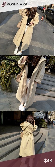 ***Don't Miss the New Arrivals *** Hoodie Coat 2016 Autumn Trench Hoodie Coat. You'll need this also for next Spring 🍁🌾🍂🌼 Jackets & Coats Trench Coats