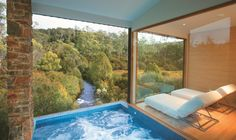 Set in the alpine forests in the highlands of Tasmania, Peppers Cradle Mountain Lodge is surrounded by bush, native trees and crystal clear air. Cradle Mountain Tasmania, Luxury Spa, Amazing Bathrooms, Hotels And Resorts, Places To Go, National Parks, House Design, Outdoor Decor, End Of The World