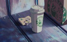 "#wattpad #fanfiction ""And what would you like, sir?"" ""The boy with the guitar."" Anime Coffee, Coffee Gif, Aesthetic Coffee, Aesthetic Gif, Anime Gifs, Anime Art, Gif Café, Animated Gif, Katsura Kotonoha"