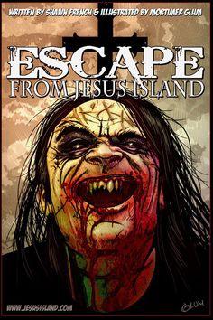 Damien, Early Mock-Up and Promo Art. Art by Mortimer Glum. Escape From Jesus Island horror comic series. Horror Comics, Twin Brothers, Novels, Island, Illustration, Artwork, Deviantart, Work Of Art, Auguste Rodin Artwork