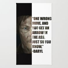Daryl from The Walking Dead Area & Throw Rug by Salina Ayala - $28.00
