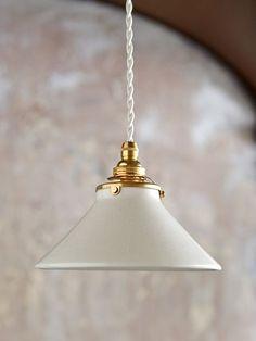 オリジナル陶器シェードランプ Pico/ホワイト | ランプ ラボ,ペンダントランプ | Orne de Feuilles