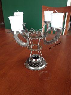 Chandelier Scrap Metal Art, Sculpture, Chandelier, Chandeliers, Sculpting, Statue, Light House, Candelabra, Sculptures