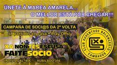 CAMPAÑA DE SOCIOS 2ª VUELTA El club pone en marcha una segunda campaña de socios para la segunda vuelta de LEB Plata que incluye los 8 partidos de liga más los de play-off que pueda disputar el equipo.
