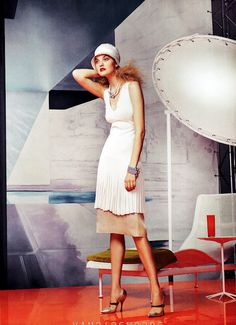 """Eternal Optimism"" in Vogue US, March 2012"