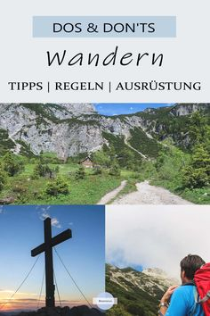 """Dos und Don'ts beim Wandern Everything you need to know about safe hiking! Questions such as """"What must be in the hiking backpack?"""", """"How do I behave when cows are on the mountain pasture"""" and """" Hiking Checklist, Hiking Tips, Camping Survival, Camping Hacks, Camping Style, Family Camping, Hiking Hair, Hiking Logo, Restaurant Logo"""
