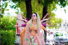 Indian bridesmaids duties   Bride's friends   BFF photos from Indian wedding   bride with sunglasses and friends posing with hand postures