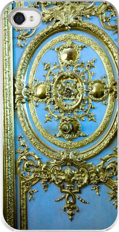 iphone 4 - Blue door in the Palace of Versailles - blue and gold - iphone 4 hard case. $45.00, via Etsy.