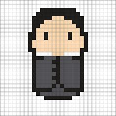 Severus Snape - Harry Potter Perler Bead Pattern