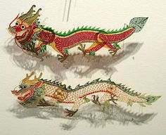 dragon shadow puppets -