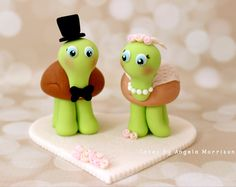 Sea Turtle Wedding Cake Topper With Sign - Choose Your Colors ...