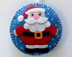 Felt Christmas ornaments Felt bird ornament red by DusiCrafts