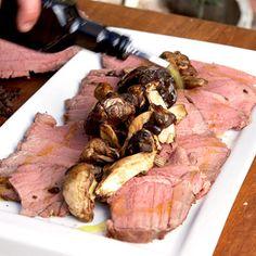 Taste Mag | Dry-aged rump of beef with porcini, watercress and bearnaise @ https://taste.co.za/recipes/dry-aged-rump-of-beef-with-porcini-watercress-and-bearnaise/