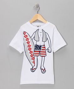 Take a look at this White Surfer Tee - Toddler & Boys by Dogwood on #zulily today!