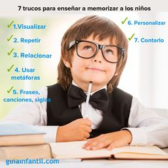 Te damos algunos consejos para enseñar a memorizar a los niños.