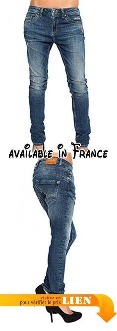 B0784LQTJG : LOST IN PARADISE - Jeans - Slim - Femme Bleu Midblue - Bleu - W32/34.