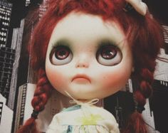 Reserved on layaway for NALA ooak custom blythe doll simply guava and customized  , alpaca hair , new licca