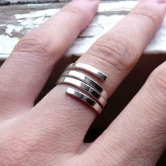 Spiral Ring  Sterling silver  Made to order in your por aforfebre, $30.00