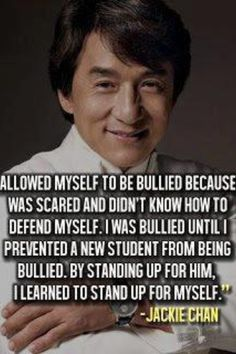 Don't be bullied or allow anyone else to be !