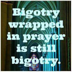 Atheism, Religion, God is Imaginary, Bigotry, Prayer. Bigotry wrapped in prayer is still bigotry. Anti Religion, Truth Hurts, Me Quotes, Crazy Quotes, Wisdom Quotes, Christianity, Prayers, Encouragement, Spirituality