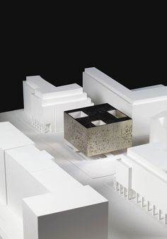 Staab Architekten House of One competition Architecture Model Making, Architecture Drawings, Model Building, Amazing Architecture, Contemporary Architecture, Architecture Details, Interior Architecture, Maquette Architecture, Architecture Diagrams