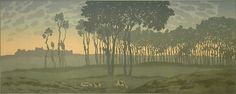 Henri Riviere. Dawn #1, The Magic of the Hours.