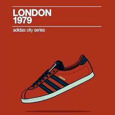 Adidas#city series#London Adidas Retro, Vintage Adidas, Adidas Classic Shoes, Adidas Sneakers, Adidas Fashion, Mens Fashion, Streetwear, Casual Art, Adidas Originals