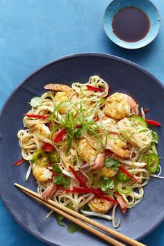 Singapore Shrimp Noodles #myplate #shrimp #pasta