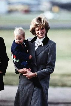 Princess Diana with young Wills