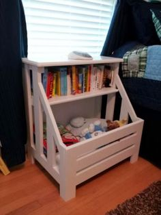 Top 25 Most Genius DIY Kids Room Storage Ideas That Every Parent Must Know Anna White Plan: scontent-b-iad. Pallet Crafts, Diy Pallet Projects, Home Projects, Pallet Ideas, Pallet Furniture, Furniture Projects, Kids Furniture, Furniture Plans, Repurposed Furniture