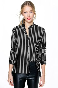 Sofia Stripe Button Through Shirt Online Shopping Clothes, Clothes For Sale, Shirt Blouses, Shirts, Latest Fashion Trends, Curvy, Chiffon, Stripes, My Style