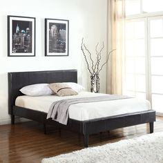 Deluxe Espresso Brown Bonded Leather Platform Bed with Wooden Slats... ($125) ❤ liked on Polyvore featuring home, furniture, beds, chocolate brown furniture, lumber furniture, wood bed, twin bed and dark brown furniture